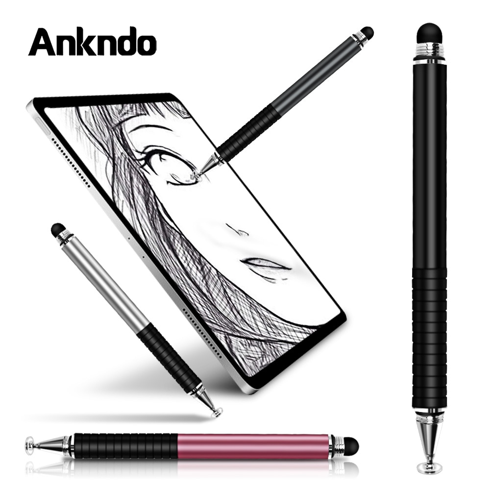 Universal 2 in 1 Stylus Pen Drawing Tablet Capacitive Screen Caneta Touch Pen for Mobile Android Phone Smart Pencil Accessories