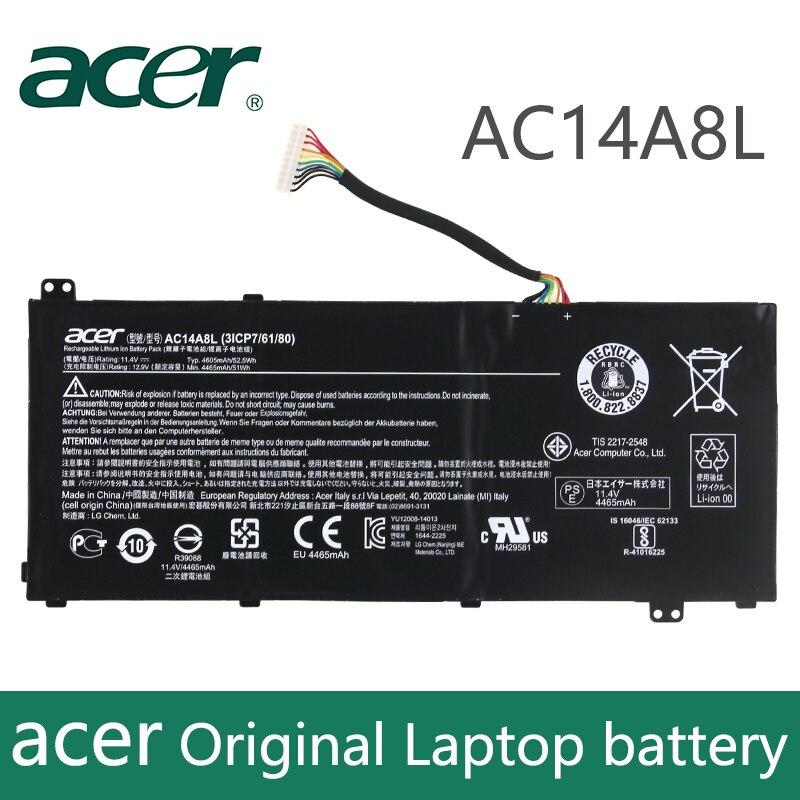 Оригинальный аккумулятор для ноутбука acer Aspire VN7-571 VN7-571G VN7-591 VN7-591G VN7-791G KT.0030G. 001 аккумулятор большой емкости 11,4 V 4605 мА/ч, AC14A8L
