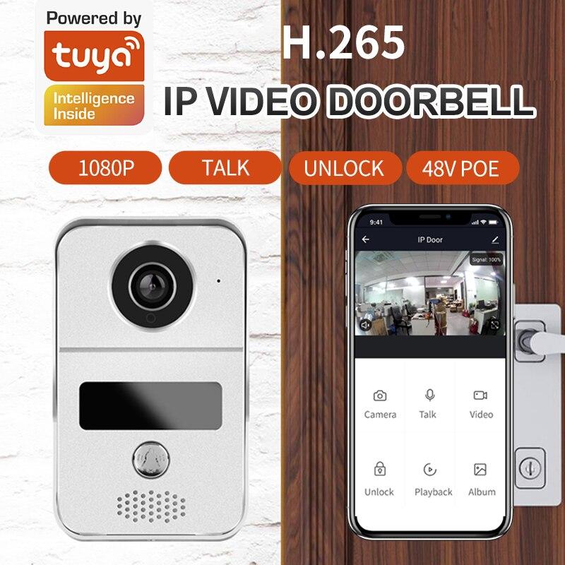 Smart Tuya 1080P Wireless Wifi Smart IP Villa Video Door Phone Intercom Doorbell Entry System for Google Home Amazon echo enlarge