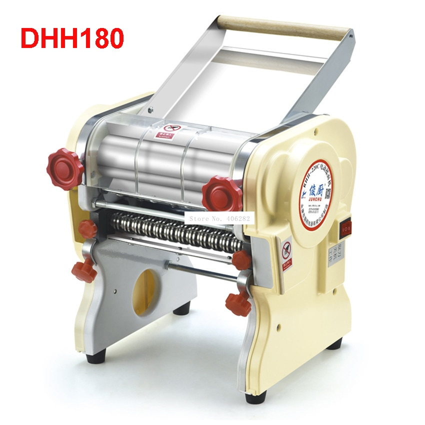 DHH180 الفولاذ المقاوم للصدأ المنزلية الكهربائية المعكرونة آلة الضغط آلية غانميان التجارية الكهربائية المعكرونة صناع 110 فولت/220 فولت