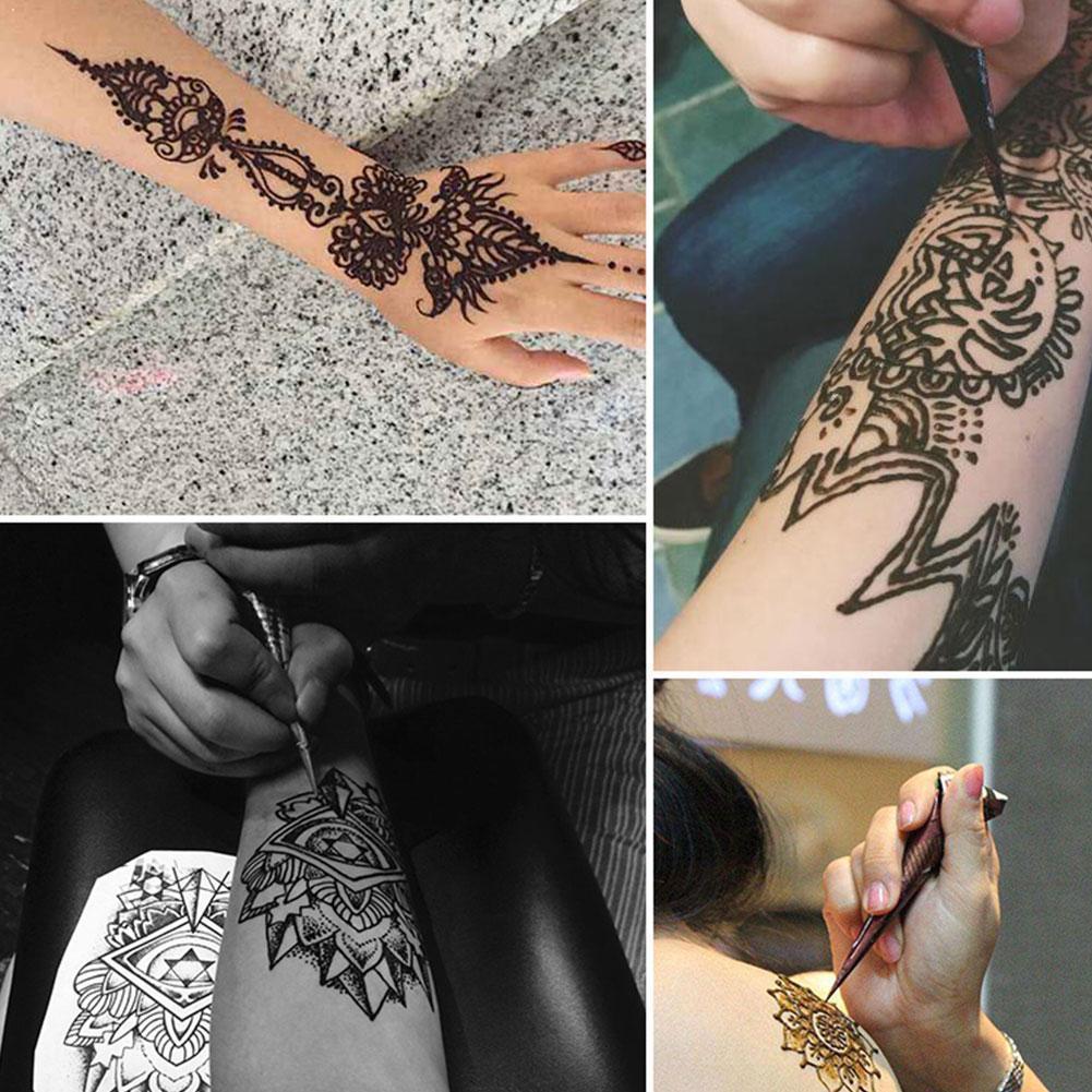 1 unidad de tinta de tatuaje de Henna India Natural, pasta negra Mehndi, pegatina corporal, Mehndi arte corporal, conos de pintura, N4N1