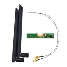 2 X 6dBi Dual Band M.2 Ipex MHF4 U. fl RP-SMA Wifi Antenne Set Voor Intel AX200 AX201 9260 9560 8265 8260 7265 7260 Ngff M.2 Kaart