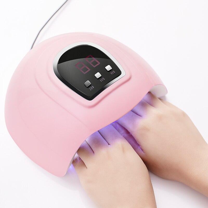 Lámpara UV de 36W secador de uñas USB 18 LEDS 30 s/60 s/90 s pantalla LCD para curado Gel polaco Auto lámpara de detección para uñas HERRAMIENTA DE MANICURA