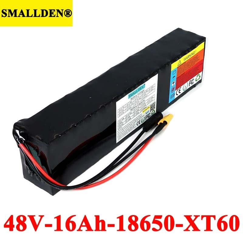 48V 16000mAh E-Batería de bicicleta 18650 13S 16Ah Paquete de batería Li-Ion kit de conversión de bicicleta 500W 1000w XT60 macho
