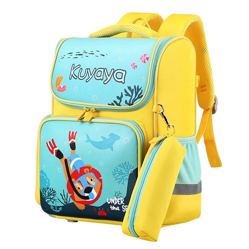 2021 детские школьные сумки для мальчиков и девочек Детский рюкзак для начальной школы книжные сумки ортопедический рюкзак школьный детский ...