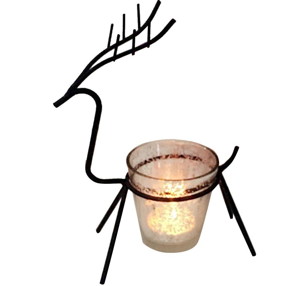 Tea Light Christmas Candle Elk Holder Candlestick Table Dinner Props Reindeer Sleigh Home Decor Morden Candlelight Creative