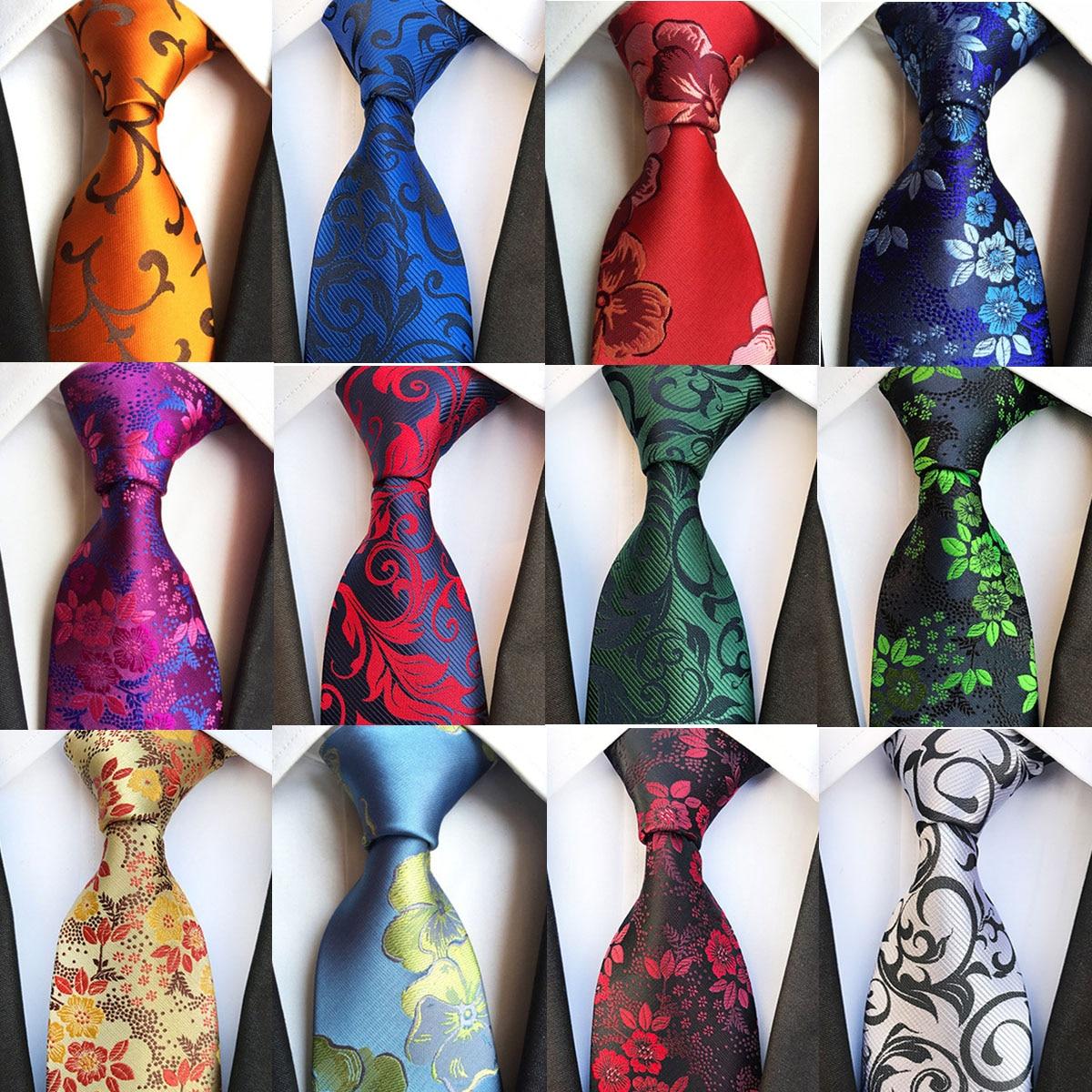 Neue Mode 8cm Silk herren Blumen Krawatte Grün Bule Jucquard Krawatte Anzug Männer Business Hochzeit Party Formale Neck krawatten Geschenke Krawatte