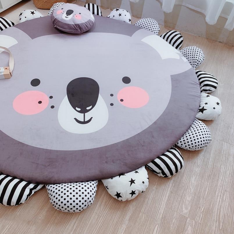 Baby Play Mat Eco-friendly crawling mat Animal Styling Cartoon Non-slip Carpet Cotton Room Mat early education kids Activity Mat enlarge