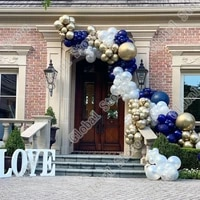 198pcs pearlescent white gold wreath arch birthday wedding engagement bridal shower anniversary party happy birthday balloon