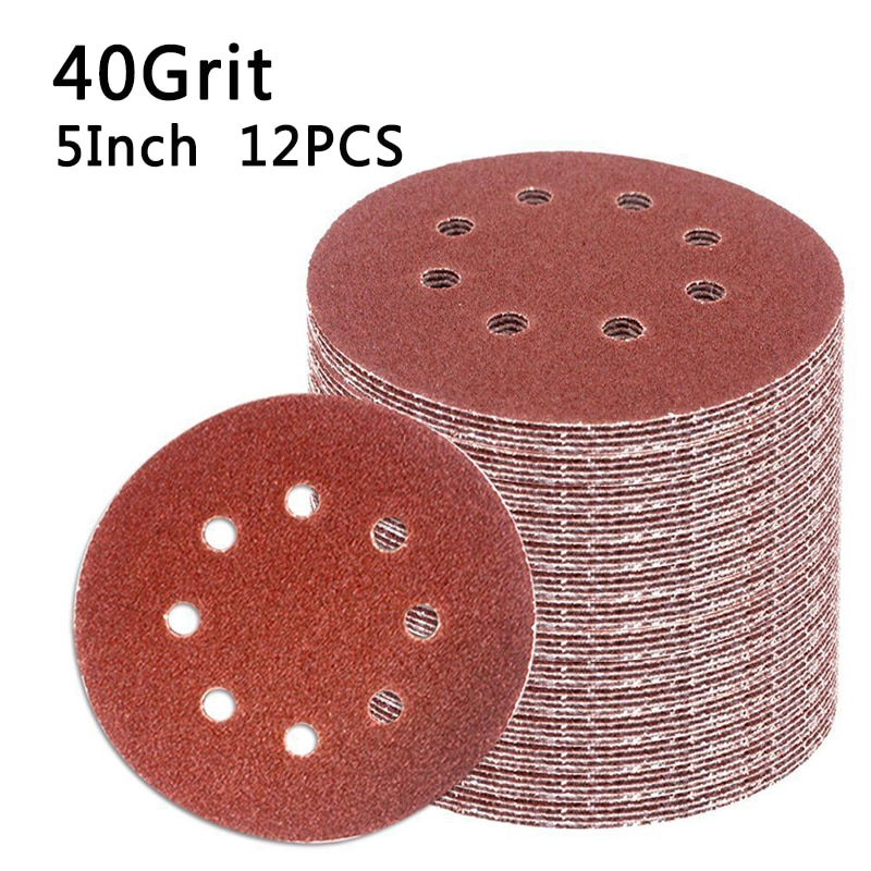 12x 40~3000 Grit Hook & Loop Sandpaper Sanding Sand Sander Disc For Woodworking