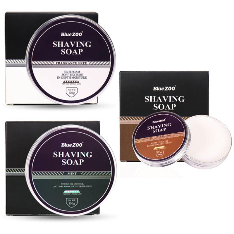 100g Professional Shaving Cream Shaving Soap Foaming Moisturizing Razor Deep Cleansing Barbering for Men Barber Care