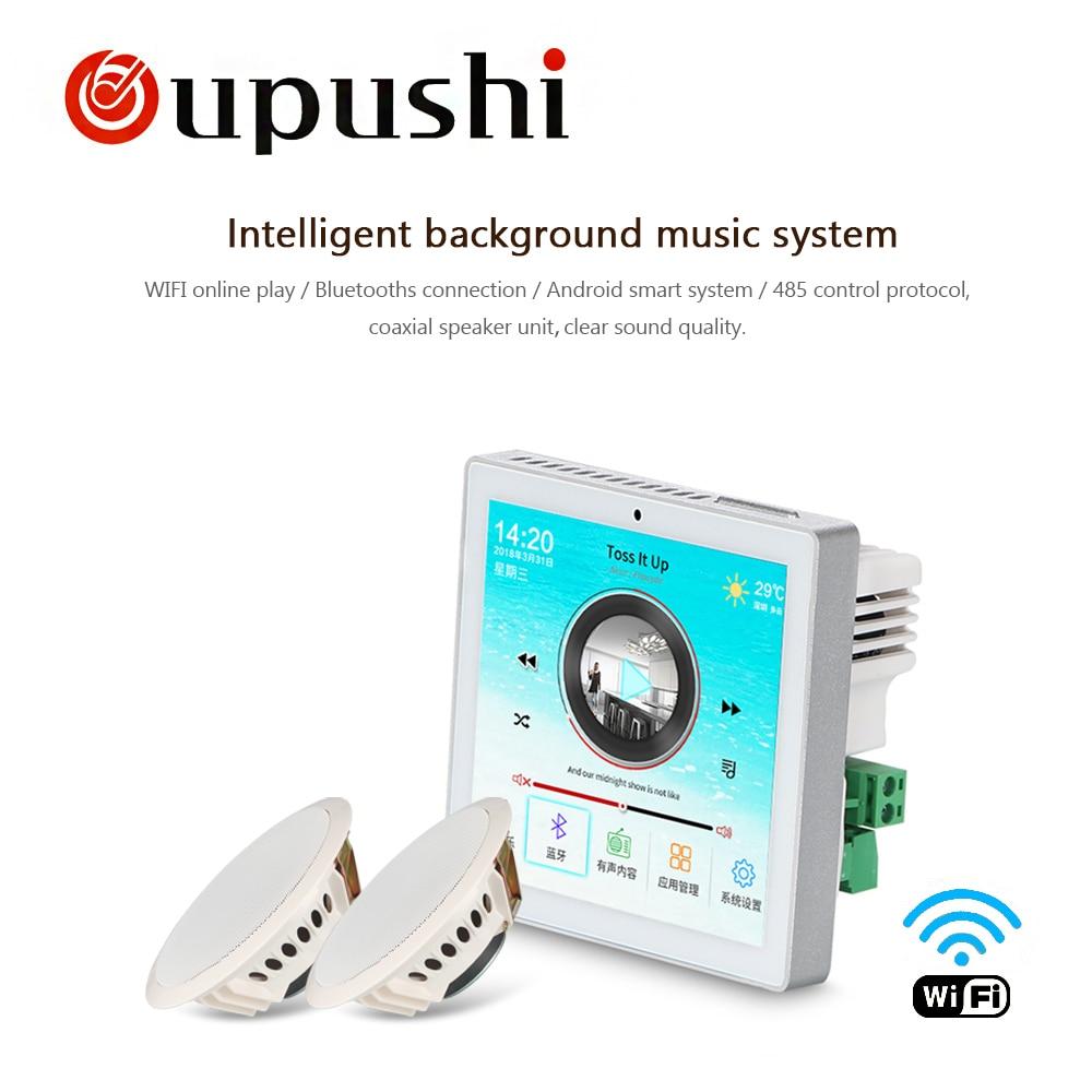Famille intelligence système 3.5 pouces tactile mur amplificateur 10w plafond haut-parleurs 6.5 pouces pour la musique à la maison