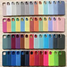 Официальный оригинальный силиконовый чехол для iPhone 11 12 Pro MAX SE 2020 XR X 7 8 Plus, чехлы для iPhone 12 mini XS, роскошный чехол с полным покрытием