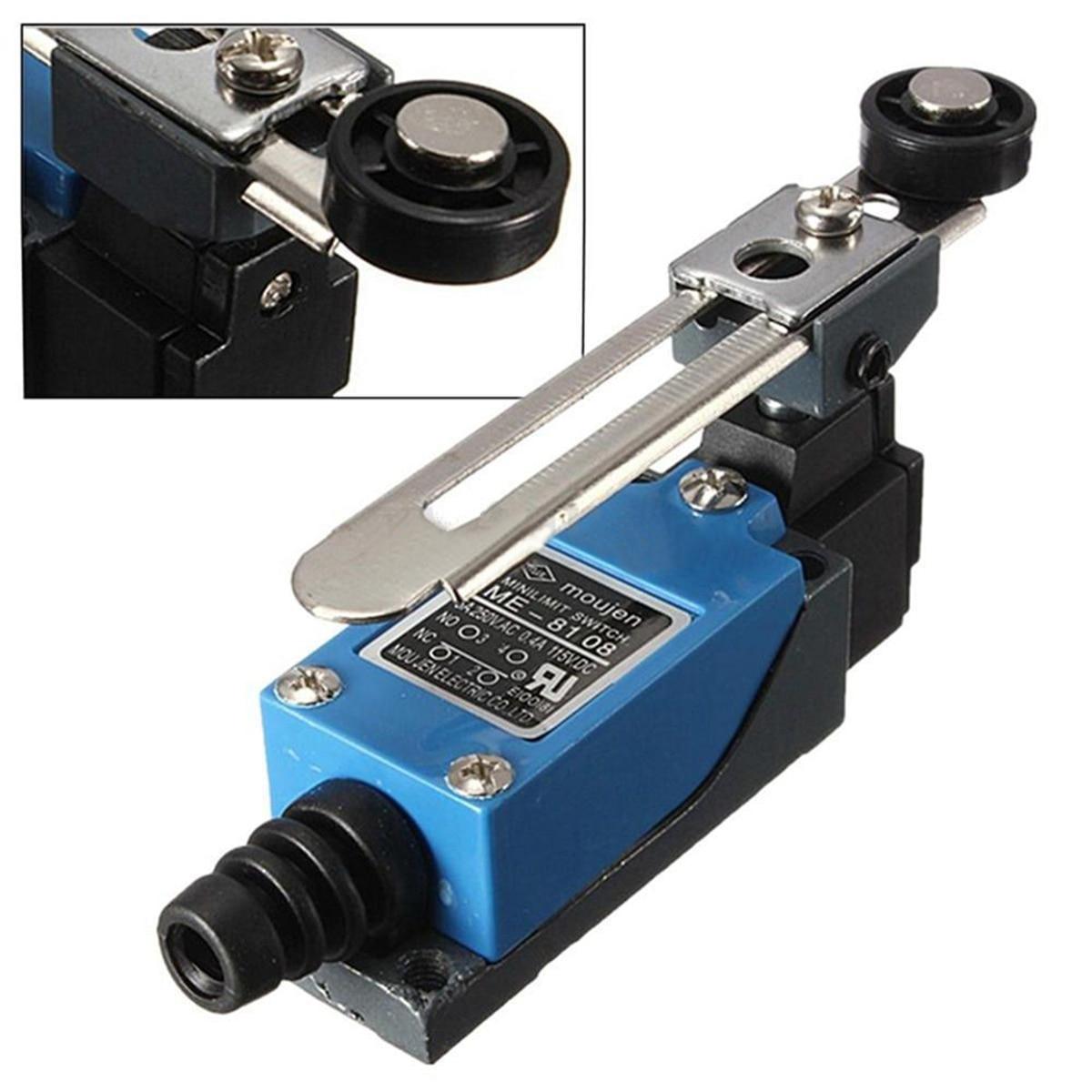 1 pieza impermeable ME-8108 momentáneo AC interruptor de límite IP65 rodillo palanca CNC molino láser Plasma suministros eléctricos