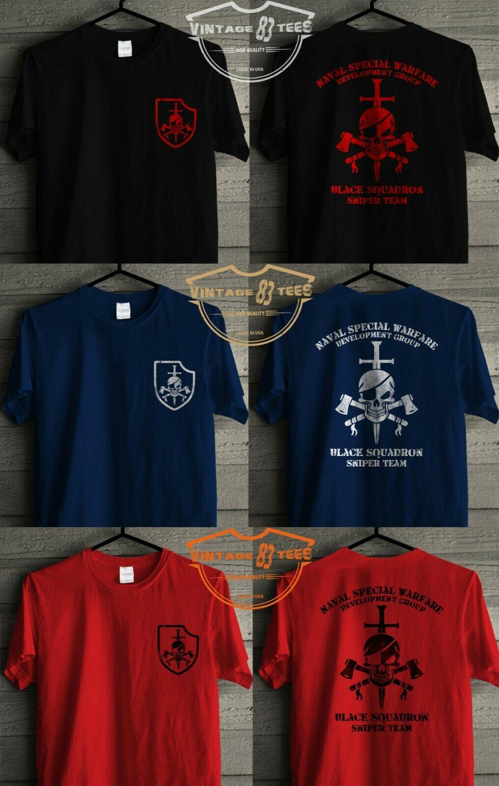 Nswdg Devgru Seal Team Six Black Squadron Tshirt Print Natural Retro Vintage