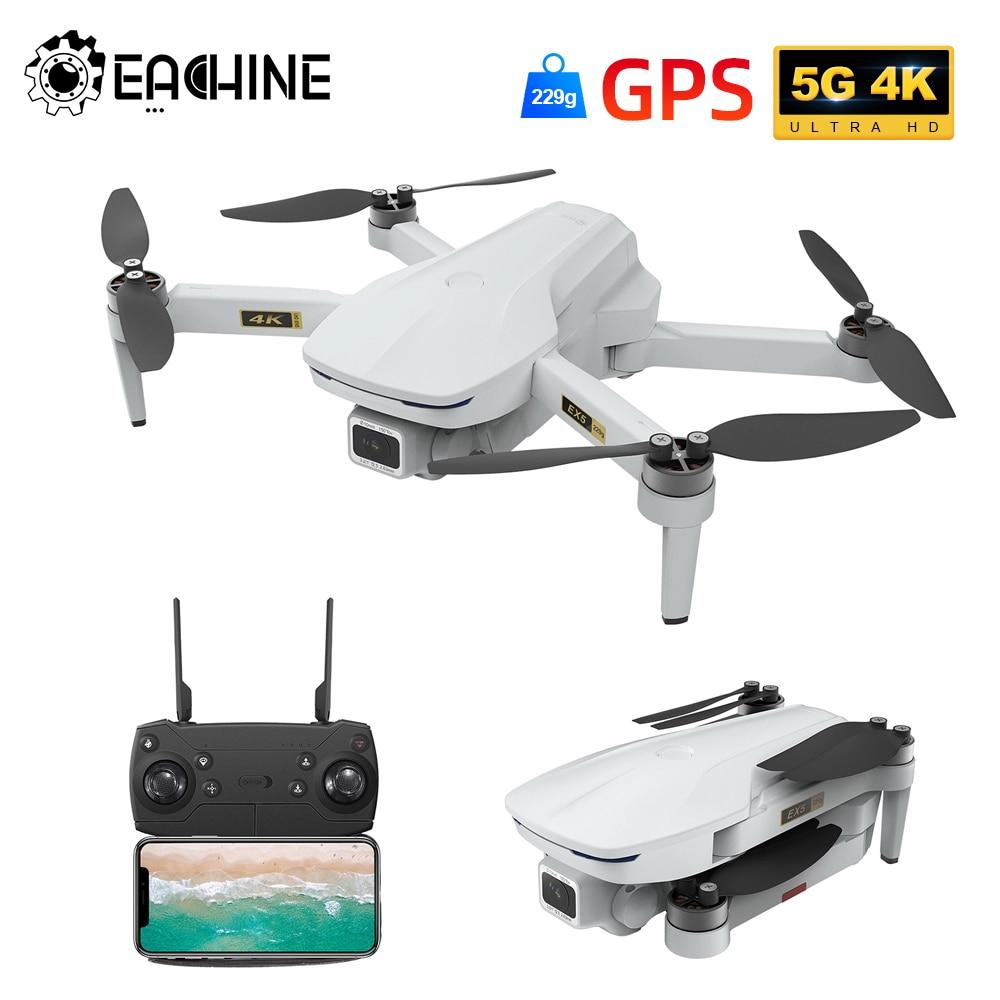 Eachine EX5 30 دقائق زمن الرحلة البسيطة FPV 200M/1000M Drone 4K GPS 5G WIFI مع فرش السيارات طوي RC Quadcopter Dron اللعب
