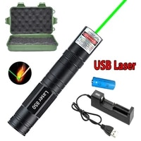 usb rechargeable green laser sight 5mw high power combustion laser super far radiation 8000m green dot laser with 18650 battery