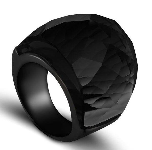 Anillo de Gran Piedra de vidrio en 7 colores, anillo de aleación color plateado a la moda para mujer, anillo de compromiso para hombre, regalo de joyería de boda
