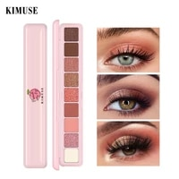neon eyeshadow palette 9 color holographic high pigmented glitter eye shadow powder waterproof no smudge smooth eye makeup tslm2
