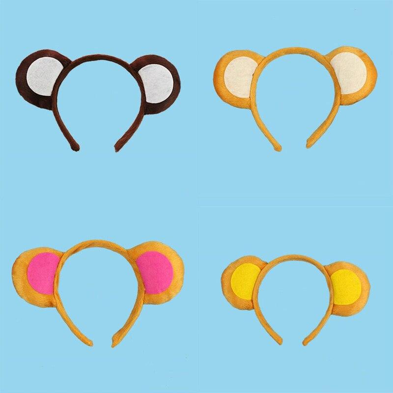 Niños adultos Diadema con orejas de animal mono orejas diademas disfraz de fiesta de Halloween Cosplay Banda de cabeza fiesta de Halloween Favor