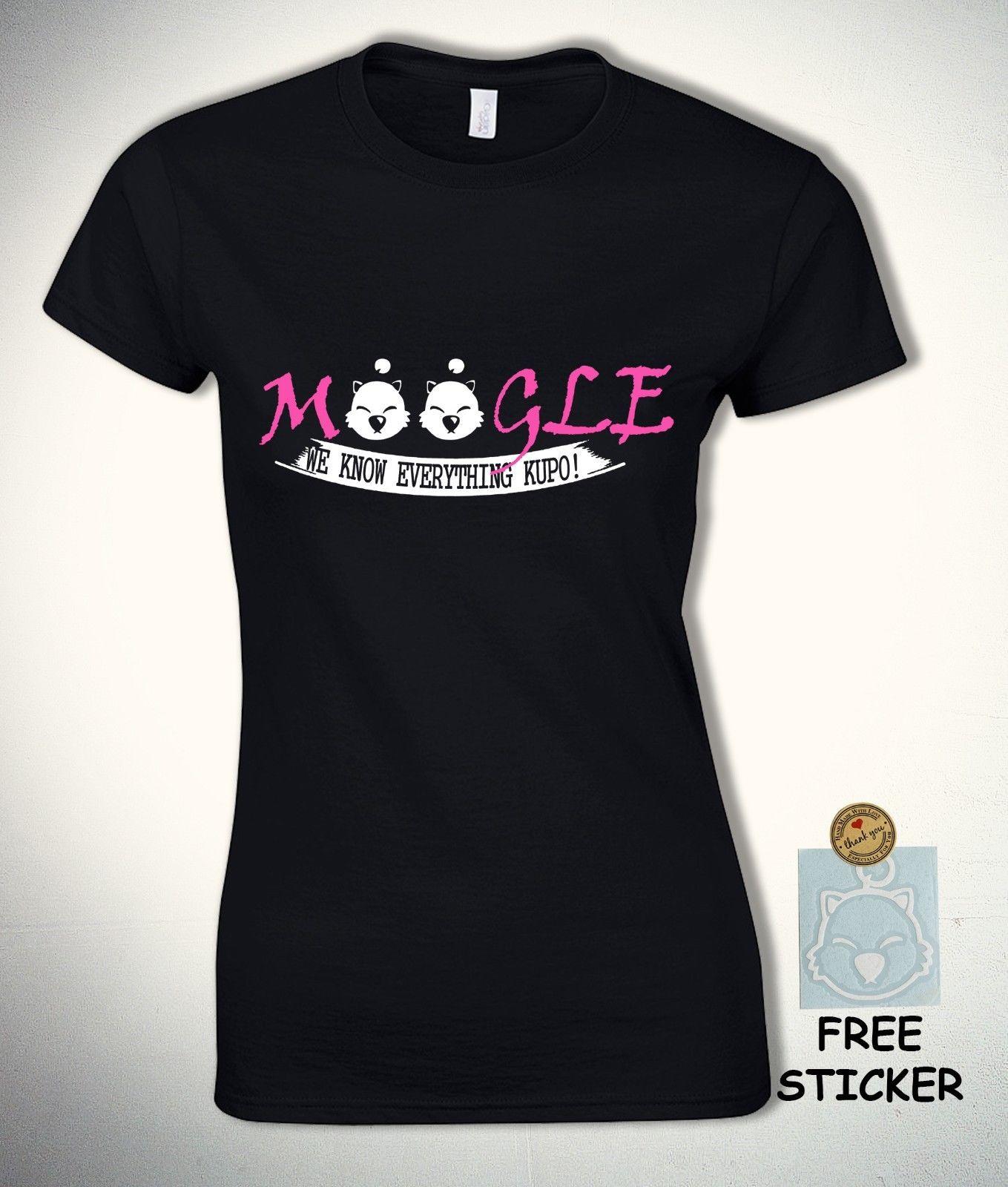 Final Fantasy camiseta Moogle We Know Everything divertida Kupo Tee 7 vii XV mujeres Cartoon camiseta hombres Unisex nueva moda camiseta