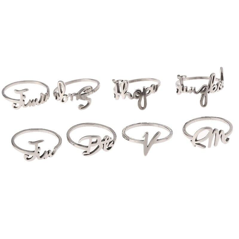 Kpop Bangtan мужское кольцо с логотипом серебряного цвета JHOPE V JIMIN JUNG KOOK RM JIN SUGA ювелирные изделия