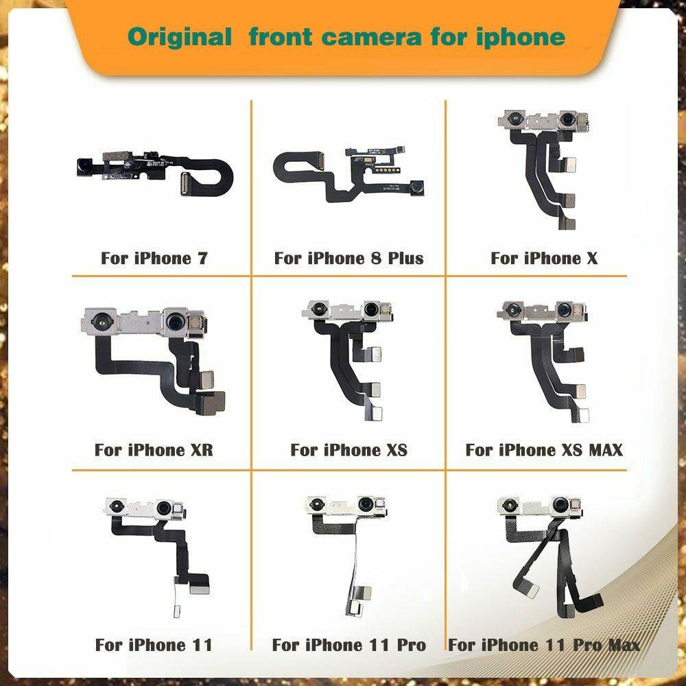 10pcs/lot Original Camera For iPhone 7 8 plus SE2 X XR XS max 11 pro max 12mini 12 pro Front Small Camera Flex Replacement enlarge