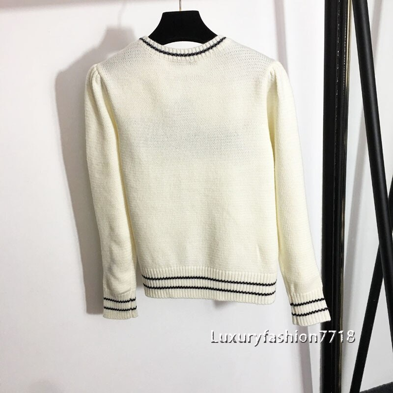 2021 High end fashion new style women sweaters long sleeve letter logo jacquard brand Pullover knitting sweater woman clothes enlarge