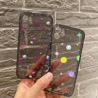 starry universe phone case for iphone 11 12 pro mini 7 8 plus x xs xr max black transparent clear shell