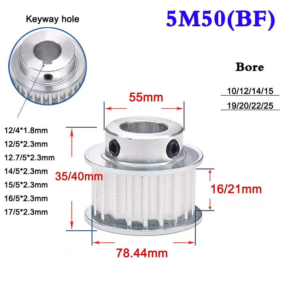 1 шт. 5 м 50 зуб 60 зубчатый синхронный шкив зубчатого ремня выпуклый шаг ширина колеса 16 мм 21 мм Диаметр 10-25 мм