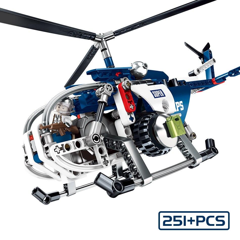 251 stücke Jedi-Kampf Hubschrauber Bausteine Military Armee Kämpfer Flugzeug DIY Kreative kinder Spielzeug