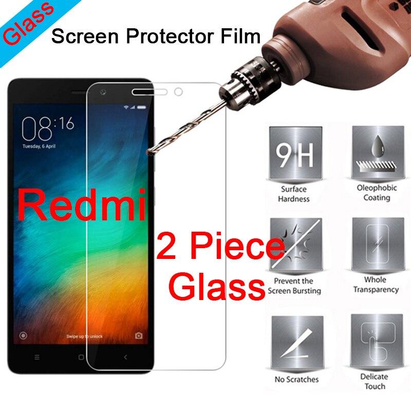 Protector de pantalla de vidrio templado transparente 2 piezas 9H para Redmi S2 Go 3S 3X 3 2, cristal Protector HD para Xiaomi Redmi 4X 4A 4 Pro
