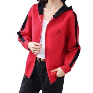 Fashion Women Jacket Sweatshirts Letter Printed Hooded Long Sleeve Slim Femme T-shirts Autumn Winter Warm Tops Sport Coat #26