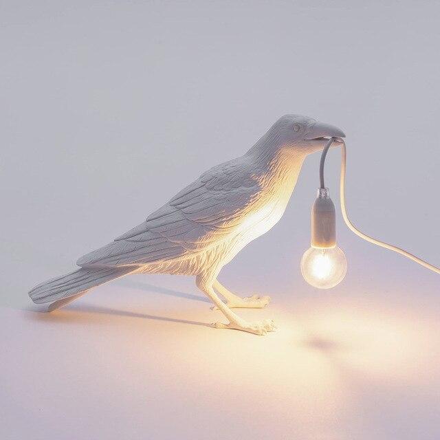 خمر LED لمبة مكتب محظوظ الطيور الجدول مصباح الإبداعية السرير الجدار مصباح ضوء الليل لغرفة المعيشة غرفة نوم المنزل مقهى ديكور