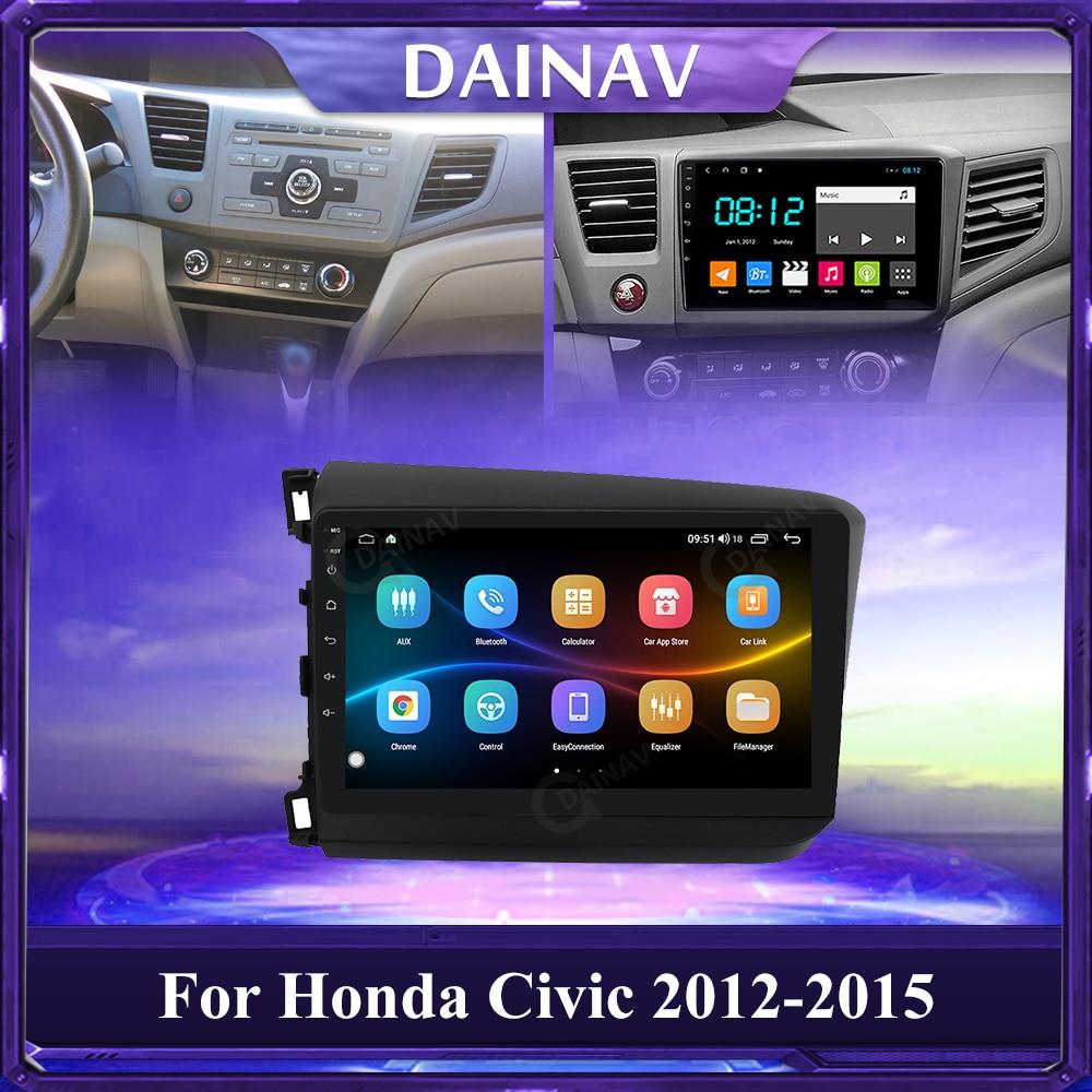 128 GB 2 Din ستيريو سيارة أندرويد مشغل فيديو لهوندا سيفيك 2012-2015 راديو السيارة Autoradio رئيس وحدة لتحديد المواقع والملاحة