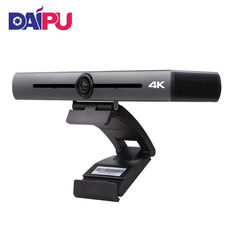 AI ذكي فائق 4K 1080P 720P HD الكل في واحد متعدد الاتجاهات التلقائي PTZ مؤتمر الفيديو الاتصالات كاميرا ميكروفون