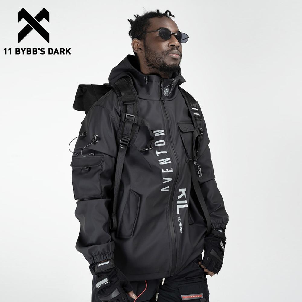 11 BYBB'S DARK-سترات كارغو متعددة الجيوب للرجال ، سترة واقية ، ملابس الشارع الهيب هوب ، في الهواء الطلق ، Techwear ، معاطف هاراجوكو كارجو ، 2020
