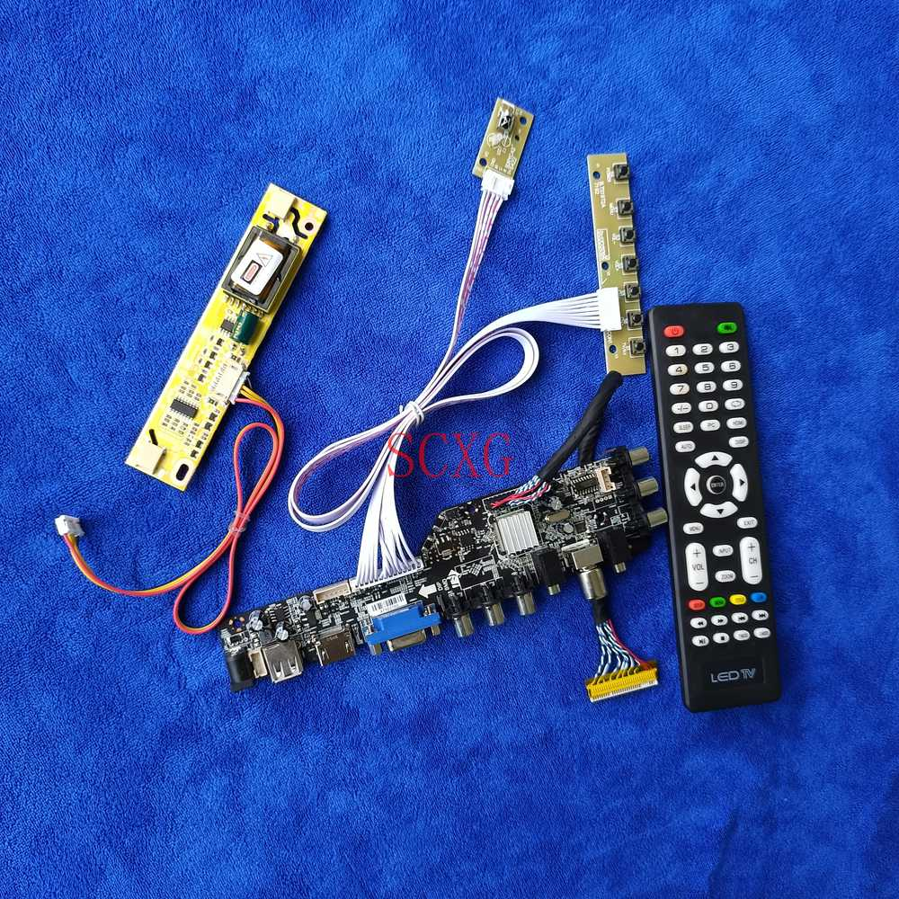 عدة 2CCFL 1920*1080 LVDS 30 دبوس DVB إشارة الرقمية صالح LTN160HT03-001/N01 HDMI-متوافق USB AV VGA LCD مصفوفة تحكم المجلس
