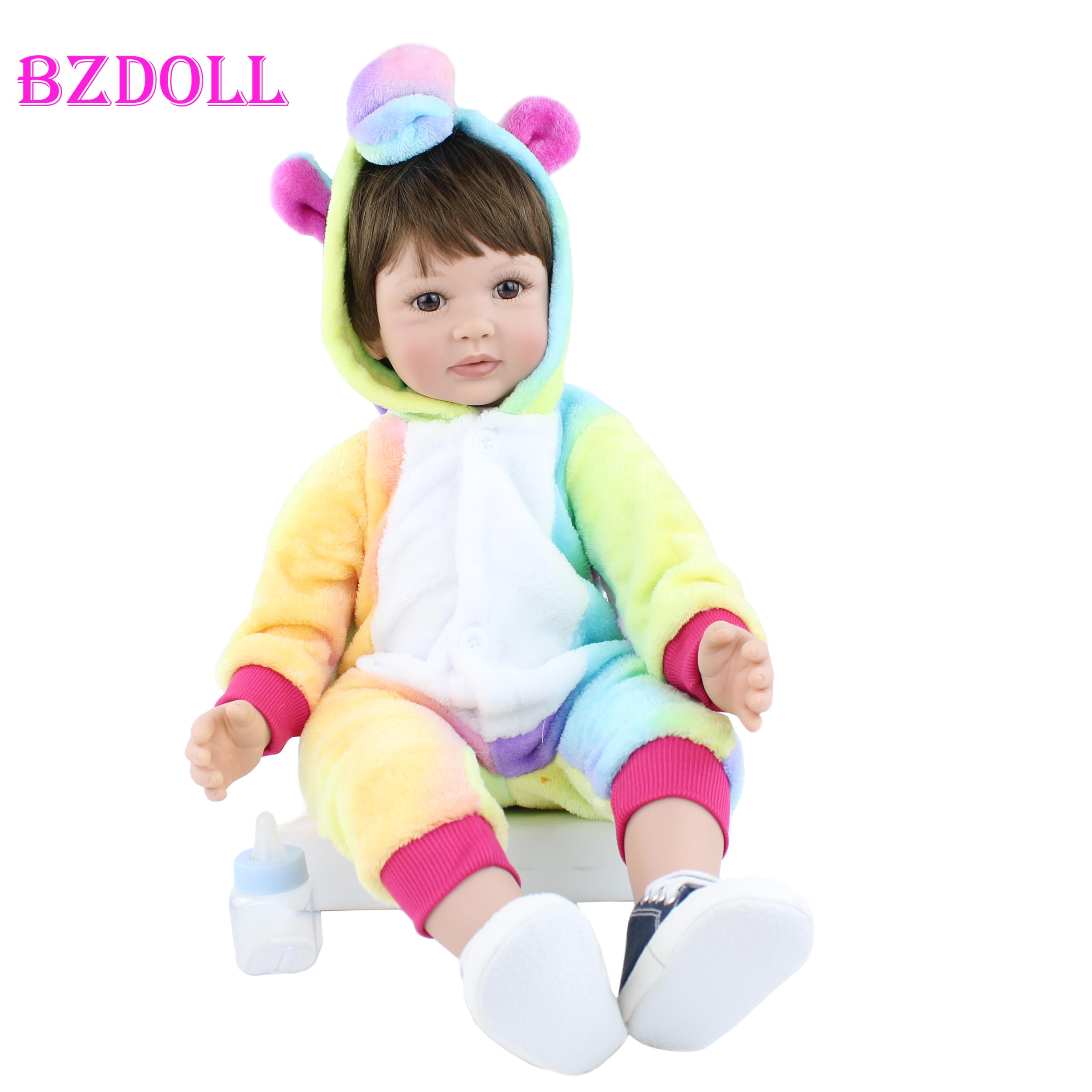 Muñeca reborn de silicona de 60CM de vinilo real para bebés y niñas, diseño coleccionable de gama alta