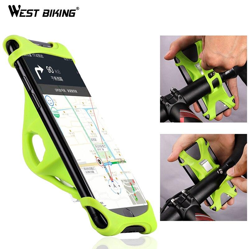Soporte de teléfono de bicicleta WEST BIKING para iPhone Samsung soporte Universal de teléfono móvil clip de manillar de bicicleta soporte de montaje GPS