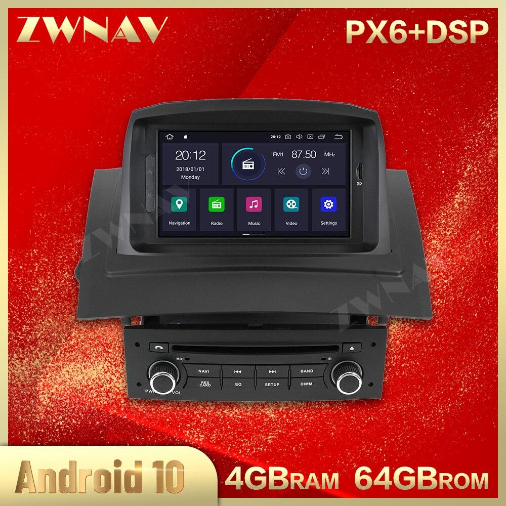 PX6 Android 10,0 IPS reproductor de DVD Multimedia para coche Renault Megane 2 Fluence 2002-2009 Radio de coche estéreo GPS Navi Unidad Principal