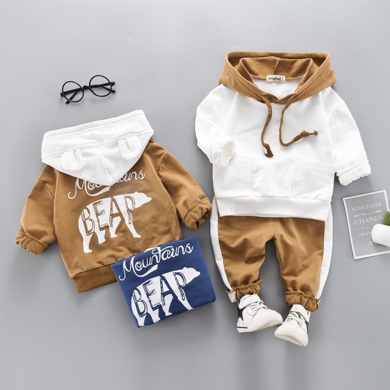 Toddlers Boys Wear Autumn/Winter Children's Wear Girls Girls Hooded + Pants 2 Pieces Children's Clothing Set Boys Clothing Set