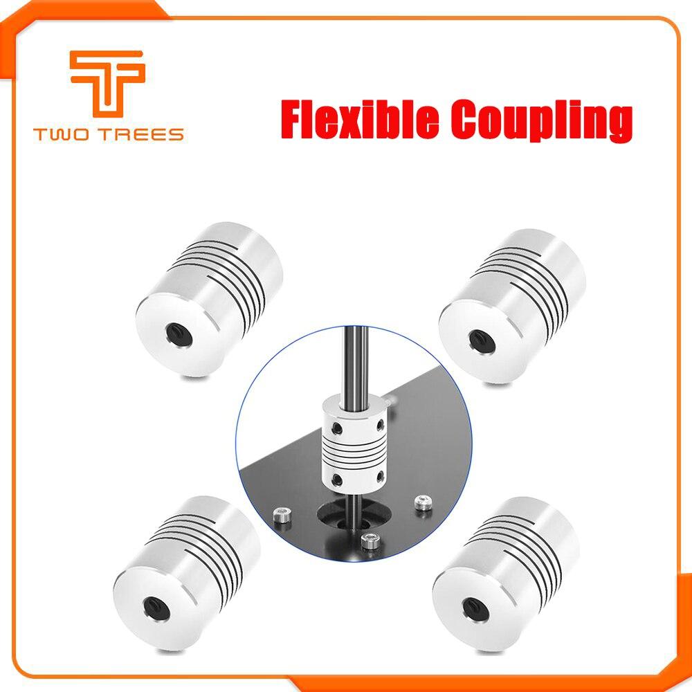 Acoplador do eixo da maxila do motor cnc 5mm a 8mm acoplamento flexível od 19x25mm atacado dropshipping 3/4/5/6/8/10mm para o parafuso de chumbo t8