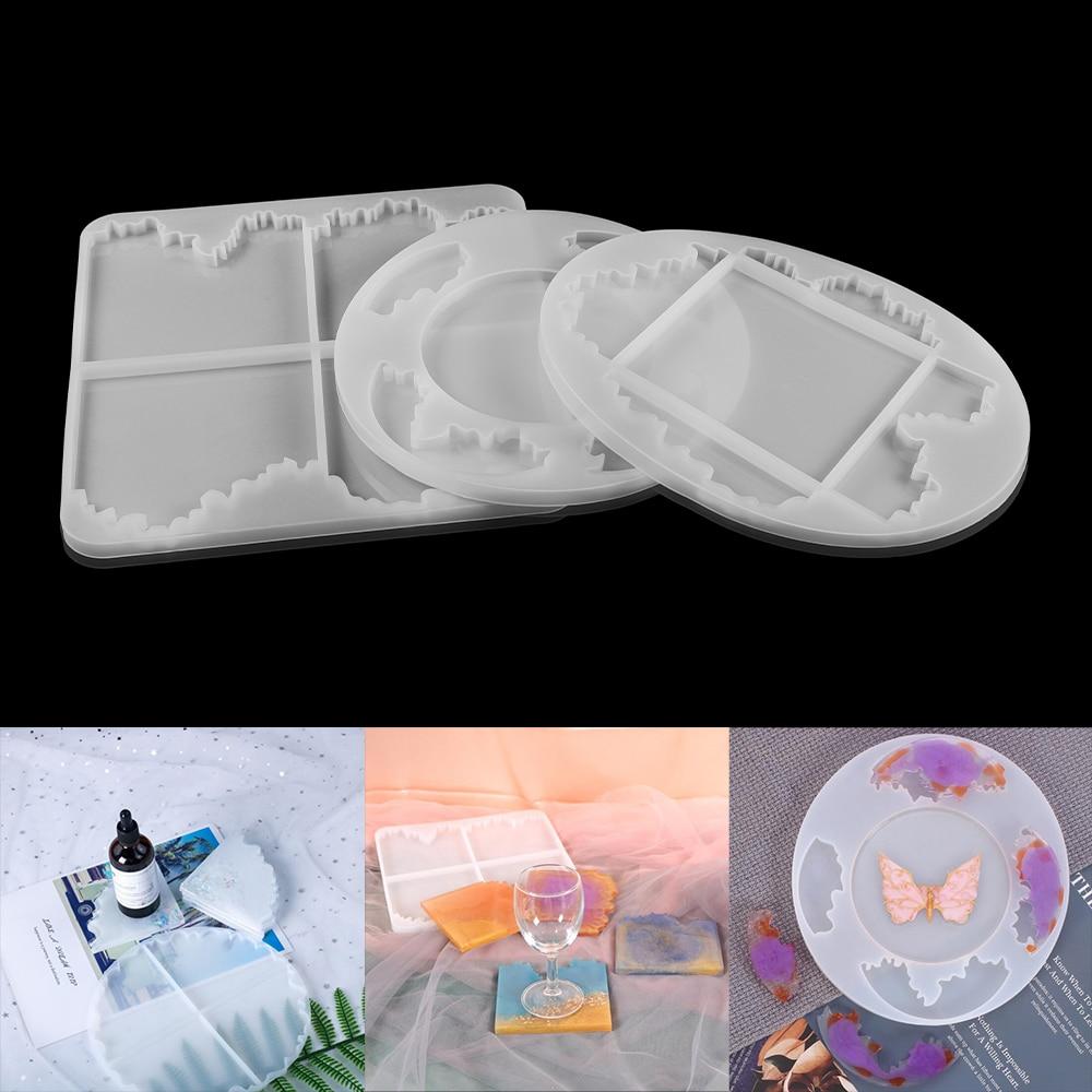 Прессформа для горки из смолы неправильная силиконовая форма для горки для изготовления Смолы Форма для горки для DIY эпоксидная смола и пол...