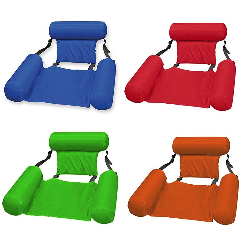 Летнее надувное кресло, складной плавающий ряд из ПВХ, для бассейна, водного гамака, воздушные матрасы, для пляжа, водного спорта, шезлонг