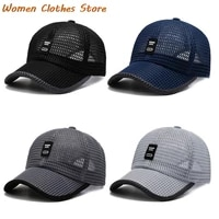 mens baseball mesh breathable summer visor caps adjustable dad hat outdoor fishing hats bone snapback trucker cap