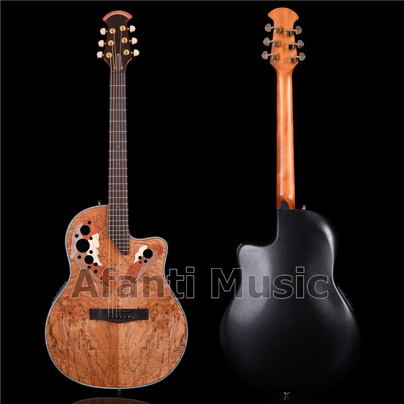 Afanti Music guitarra acústica de 41 pulgadas con tapa de arce Spalted (ANT-169X)
