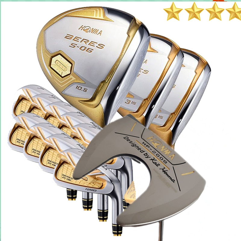 Limit discounts Men's golf clubs Honma Beres S-06 4star golf club set  golf clubs golf irons+driver+fairway wood+putter