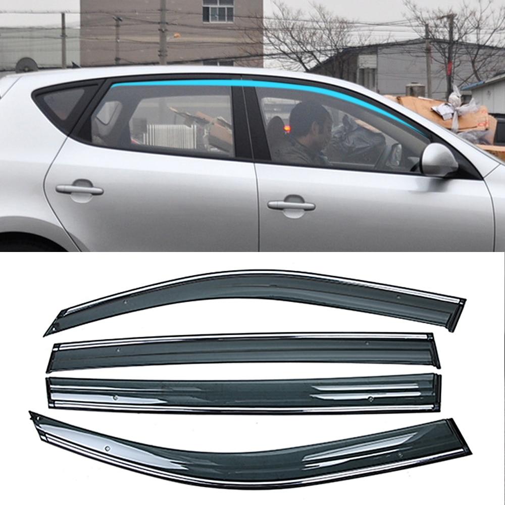 Para HYUNDAI I30 FD Hatchback 2007-2012, parasol para ventana de coche, visera protectora para lluvia, cubierta protectora, pegatina de molduras de Marcos