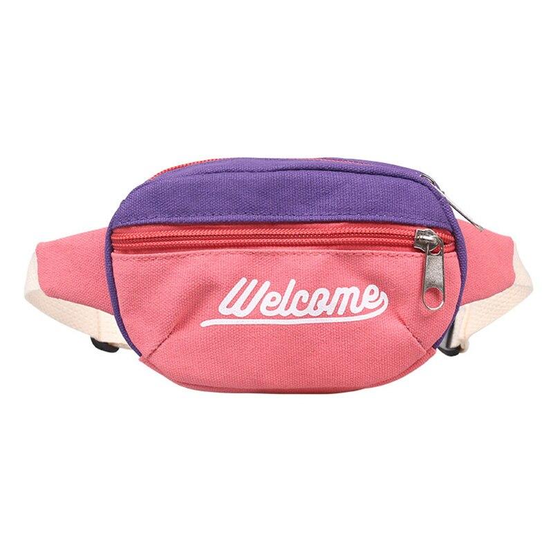 Bolso de cinturón para niños, Mini riñonera de lona a la moda para niños, bolso para el pecho, riñonera para bebés, nuevos paquetes de cintura YB404